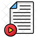 Video File Video Page Video Document Icon