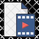 Video File Document Icon