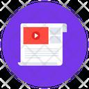 Video File Media File Media Content Icon
