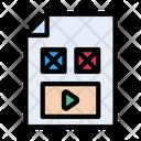 Video File Design Icon