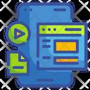 Video File Movie File Mobile Icon