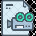 Video File Paper Icon