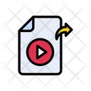 Video File Sharing Icon