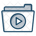 Video Folder Video Storage Archive Music Icon