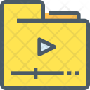 Video Folder Data Icon