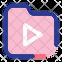 Video Folder Video Camera Icon
