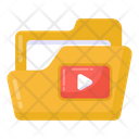 Video File Video Folder Video Archive Icon