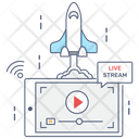 Video Startup Rocket Launcher Media Launcher Icon