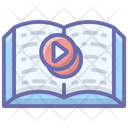 Video Learning Online Book Video Tutorials Icon
