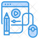 Lesson Online Learning Education Icon
