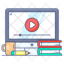 Video Learning Online Tutorial Online Video Icon