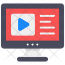 Video Learning Video Streaming Media Player Icon