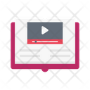 Video Player Book Icon