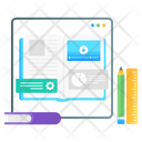 Video Learning Video Lesson Video Tutorials Icon