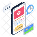 Video Streaming Video Learning Mobile Video Icon
