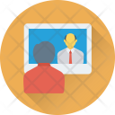 Video Lecture Chat Icon
