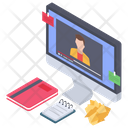 Video Lecture Virtual Education Distance Learning Icon