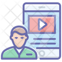 Video Lecture Video Learning Video Tutorials Icon