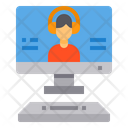 Online Chat Headphone Lesson Icon