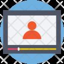 Video Call Lecture Icon
