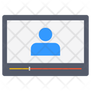 Laptop Video Call Icon