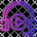 Headphones Listen Play Icon