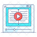 Video Lesson Online Tutorial Online Video Icon