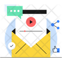 Video Mail Email Marketing Video Marketing Icon
