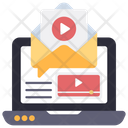 Video Mail Video Email Online Mail Icon