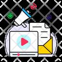 Online Video Video Blog Internet Marketing Icon