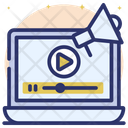 Video Marketing Online Marketing Video Promotion Icon