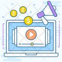 Video Blogs Digital Marketing Blogging Icon