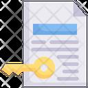 Internet Marketing Keyword Document Icon