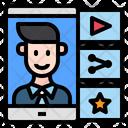 Man Mobile Online Icon
