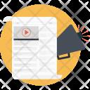 Video Marketing Bullhorn Icon