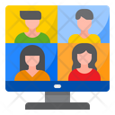 Video Meeting Video Call Video Conference Icon