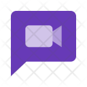Video Message Chat Icon