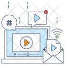 Video Email Online Video Sending Video Icon
