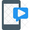 Video Message Mobile Icon