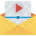 Video Message Email Open Icon
