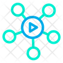 Connection Network Video Icon