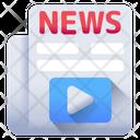 Media News Video News Newspaper Icon