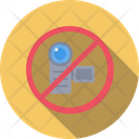 Camera Video Not Allowed Icon