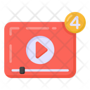 Content Notification Video Notification Video Notify Icon