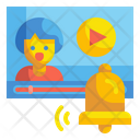 Video Notification Notification Bell Icon