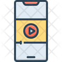 Video On Mobile Phone Icon