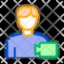 Video Operator Human Icon