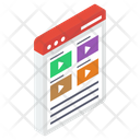 Video Page Interface Media Video Wireframe Icon