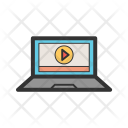 Play Video Laptop Icon