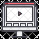 Computer Website Video Icon